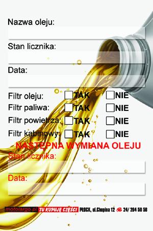 Zawieszka Do Wymiany Oleju